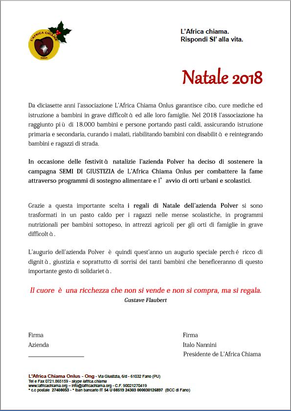 Regali Di Natale Onlus.Lettera Natalizia Personalizzata Aziende Solidali