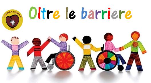 """campagna """"OLTRE LE BARRIERE"""" per permettere a bambini con disabilità di accedere all'istruzione."""