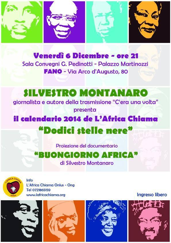 Silvestro Montanaro presenta a Fano il calendario 2014 de L'Africa Chiama