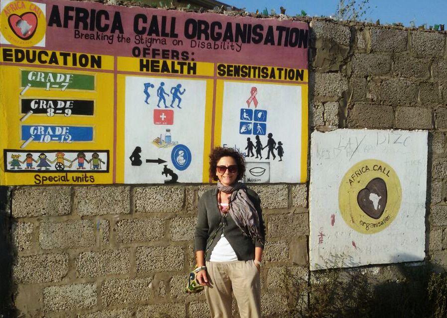 Anita Manti in Zambia con L'Africa Chiama