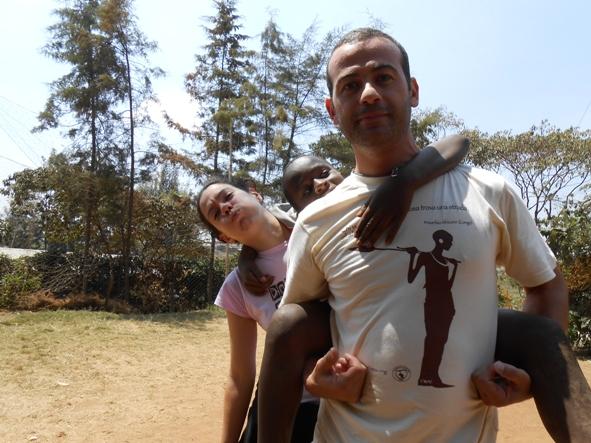 Nicola volontario nello slum di Soweto